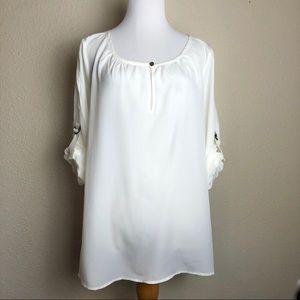 Michael Kors white light weight silky blouse